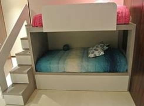 Recámara niños: Recámaras infantiles de estilo minimalista por ArtiA desarrollo, arquitectura y mobiliario.
