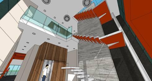 Box de Crossfit & Gym: Salas / recibidores de estilo minimalista por MARATEA Estudio