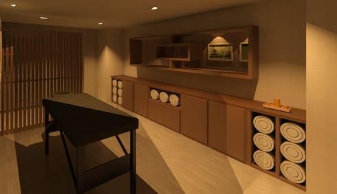 Spa em casa de campo: Hotéis  por Luciana Ribeiro Arquiteta