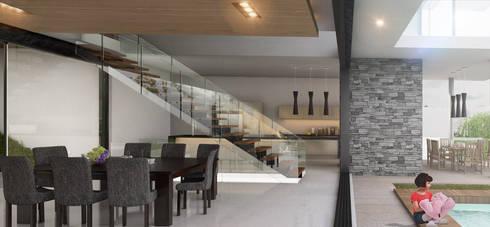 Escalera: Pasillos y recibidores de estilo  por AParquitectos