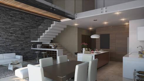 Espacio Interior: Comedores de estilo moderno por AParquitectos