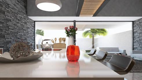 Isla cocina: Comedores de estilo moderno por AParquitectos