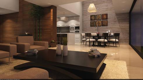 Comedor Opción 2: Comedores de estilo clásico por AParquitectos