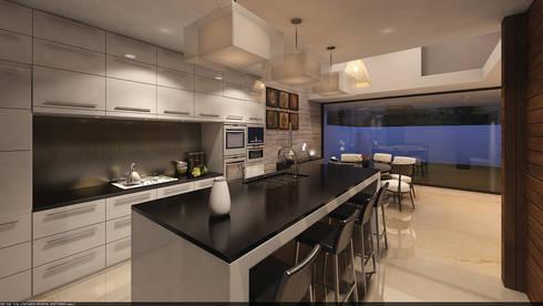 Cocina opción 2: Cocinas de estilo clásico por AParquitectos