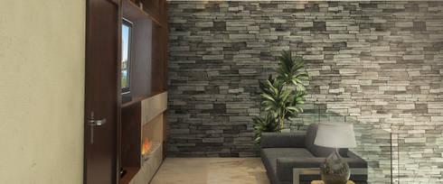 Sala TV: Salas multimedia de estilo clásico por AParquitectos