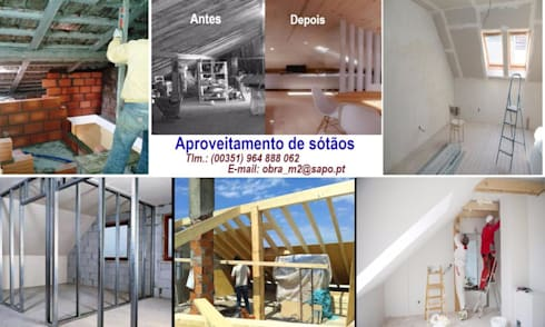APROVEITAMENTO DE SÓTÃO,  desde 150€/m2:   por 'PRESTIGIO'   OBRAS: Construção, Alteração, Remodelação e reabilitação, ...  Manutenção.