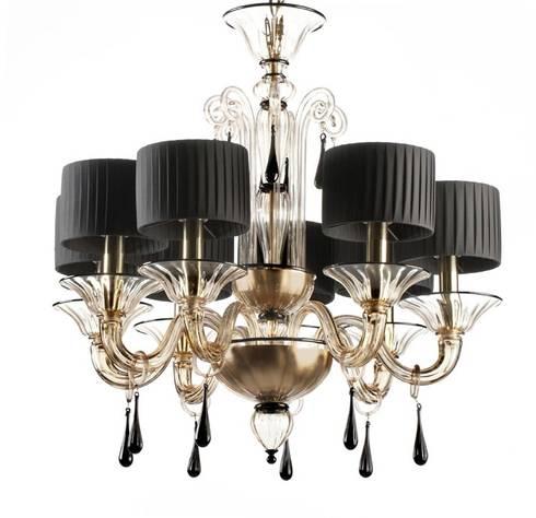 Murano glass chandelier modern black lampshades and fum glass black and fum murano glass chandelier grimani modern living room by yourmurano lighting uk aloadofball Gallery