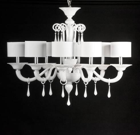Murano glass chandelier modern white glass chandelier priuli modern white glass chandelier priuli aloadofball Choice Image