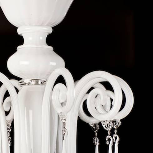 Murano glass chandelier modern white glass chandelier priuli luxury 8 light venetian glass chandelier priuli aloadofball Choice Image