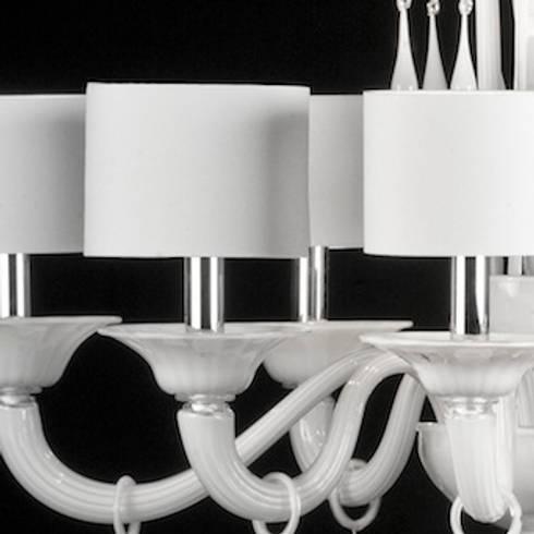 Murano glass chandelier modern white glass chandelier priuli modern 8 lights venetian glass chandelier priuli aloadofball Choice Image