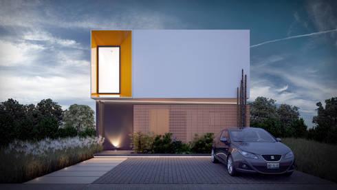 Fachada Frontal: Casas de estilo moderno por Taller Tres