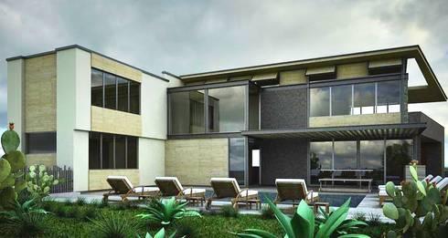 CaSA PADELFORD: Albercas de estilo moderno por CoRREA Arquitectos
