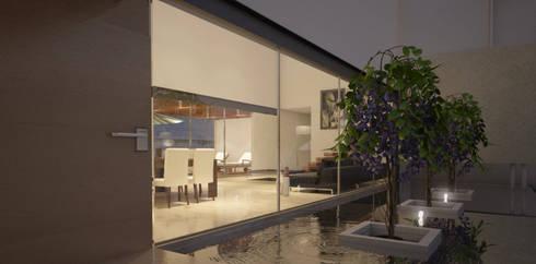 Espejo de agua: Casas de estilo moderno por AParquitectos