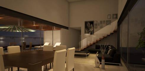 Interior: Comedores de estilo moderno por AParquitectos