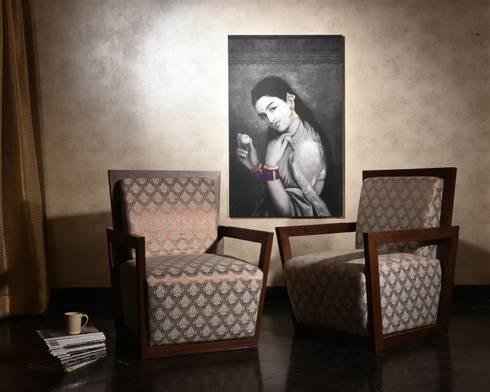 Pharoah's Throne: asian Living room by KNOCK ON WOOD
