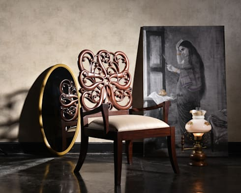 Rosa: asian Living room by KNOCK ON WOOD