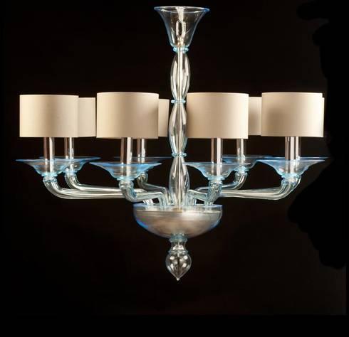 Murano glass chandelier modern light blue glass chandelier light blue lampshades glass chandelier foscarini modern bedroom by yourmurano lighting uk mozeypictures Gallery