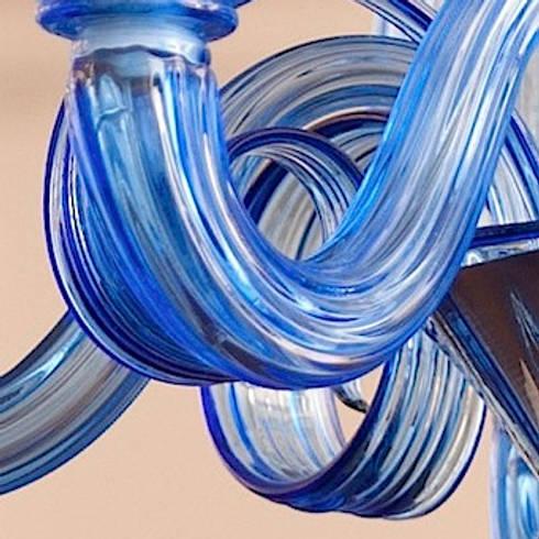 Murano Glass Chandelier - modern clear blue chandelier - CELSI by ...
