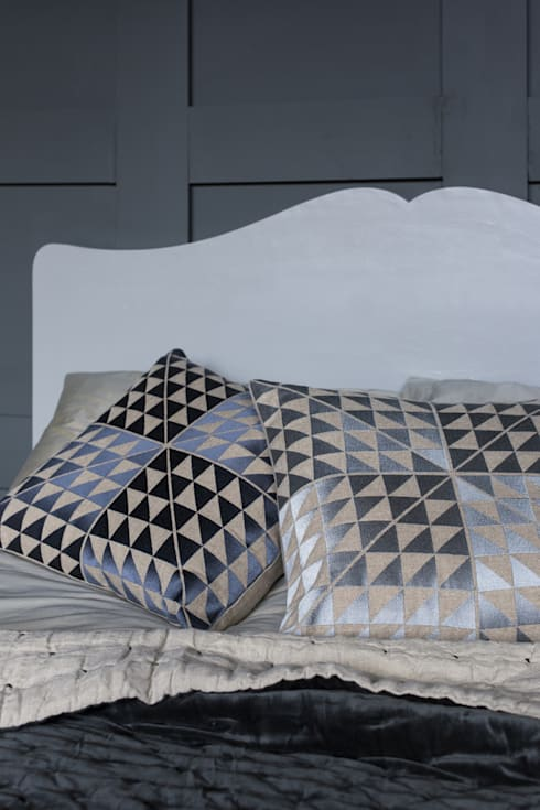 Geocentric Cushions: modern Bedroom by Niki Jones