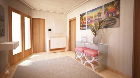 PASSAGEWAY: Corredores e halls de entrada  por GRAÇA Decoração de Interiores