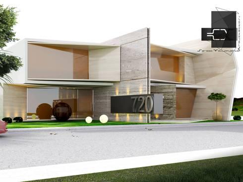 RESIDENCIA DB: Casas de estilo ecléctico por Sergio Villafuerte -ARQUITECTOS-
