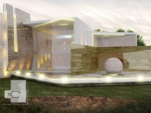 RESIDENCIA MIRÓ: Casas de estilo ecléctico por Sergio Villafuerte -ARQUITECTOS-