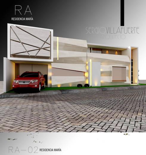 RESIDENCIA MARÍA-RA: Casas de estilo ecléctico por Sergio Villafuerte -ARQUITECTOS-