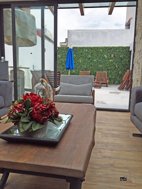 Terrazas de estilo  por Arquitectura101 + Kably Arquitectos