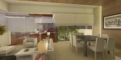 Interior: Salas de estilo moderno por AParquitectos