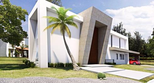 Casa Oceguera: Casas de estilo moderno por AParquitectos
