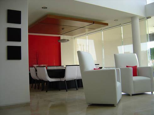 Sala-comedor: Comedores de estilo moderno por AParquitectos