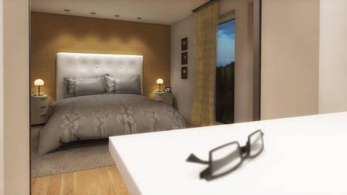 schlafzimmer mit begehbarem kleiderschrank von d rr planen einrichten homify. Black Bedroom Furniture Sets. Home Design Ideas