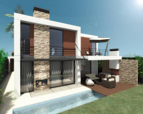 Moradia em Alphaville | São Paulo | Brasil: Casas modernas por Ar Studio Architects