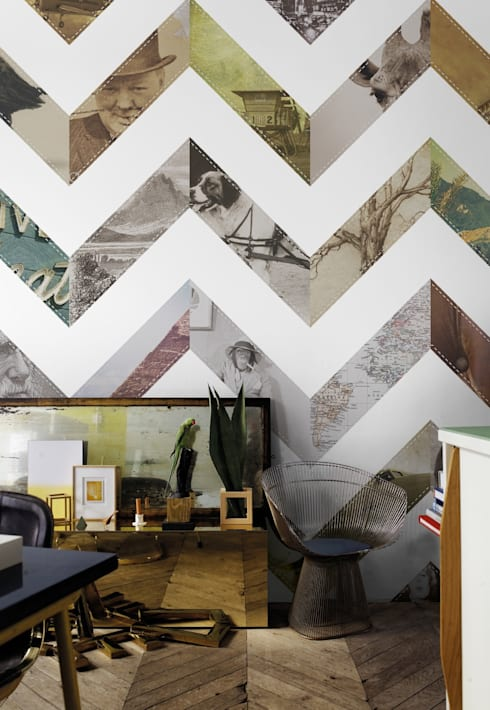 Mural WINDMILL 03: Casa  por VM HOME DESIGN