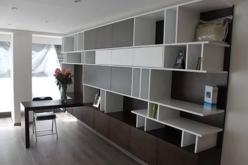 CASA T-B: Estudios y oficinas de estilo moderno por IARKITECTURA