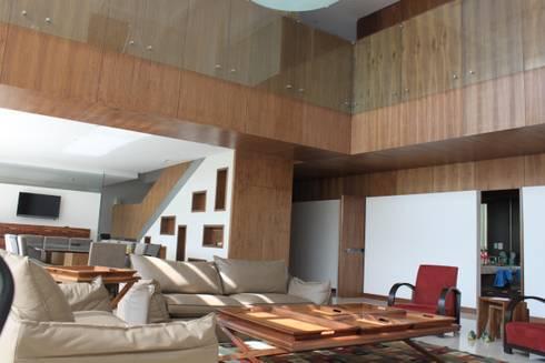 DEPARTAMENTO R-G: Salas de estilo moderno por IARKITECTURA