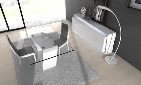 http://intense-mobiliario.com/pt/salas-de-jantar/4187-sala-de-jantar-regia.html: Sala de jantar  por Intense mobiliário e interiores;