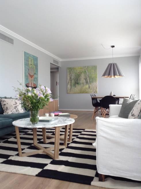 Damero 3: Paredes y pisos de estilo escandinavo por Elementos Argentinos