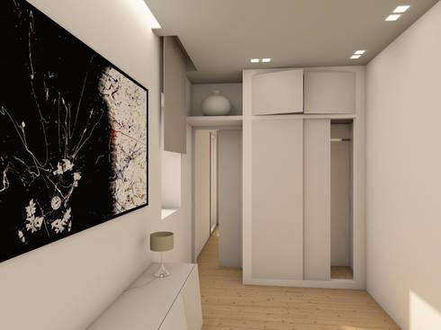 Interiors casa l di rdstudioarchitettura daniele russo for Cappottiera ingresso