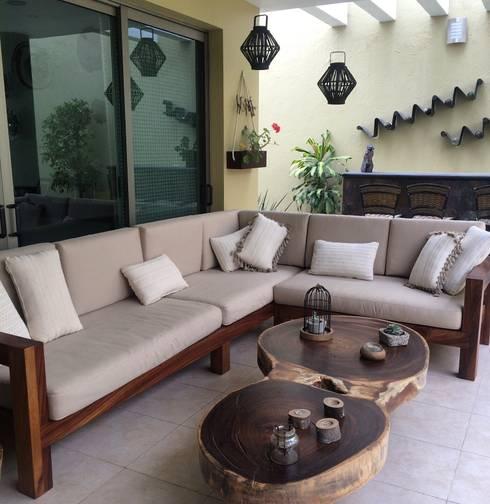 Mueble de terraza ideal para exteriores de madera homify for Muebles para terraza en madera