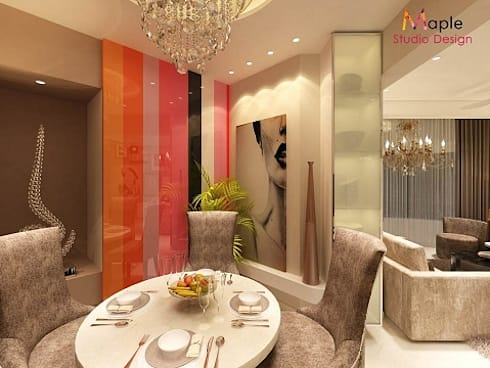 LUXURIOUS LIVING ROOM -: eclectic Dining room by MAPLE studio design