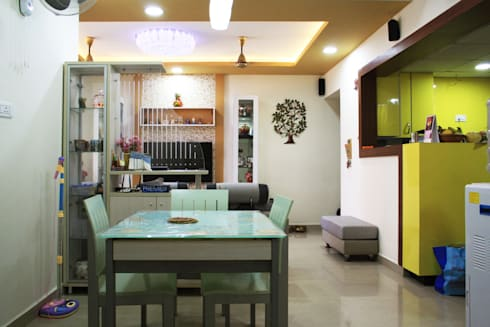 3bhk apartment in Appasamy Mapleton, Pallikaranai.. : asian Dining room by Ashpra Interiors