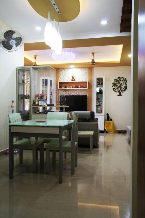 3bhk apartment in Appasamy Mapleton, Pallikaranai.. : asian Living room by Ashpra Interiors