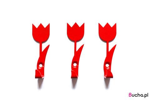Tulipan wieszak na ubrania, ręczniki, klucze, Tulipany czerwony: styl , w kategorii Kuchnia zaprojektowany przez Bucha