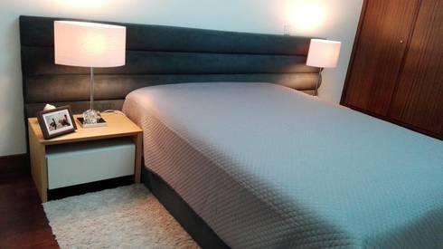 Conforto e Individualidade: Quartos modernos por Favos Comércio de móveis e artigos para decoração lda.