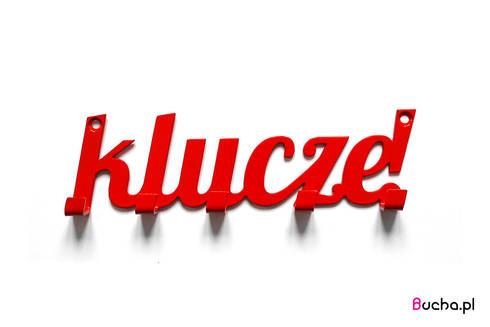 Klucze! wieszak na klucze w kolorze czerwonym: styl , w kategorii Korytarz, hol i schody zaprojektowany przez Bucha