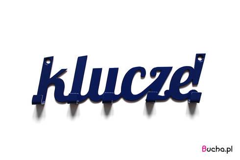 Klucze! wieszak na klucze granatowym niebieskim: styl , w kategorii Domowe biuro i gabinet zaprojektowany przez Bucha