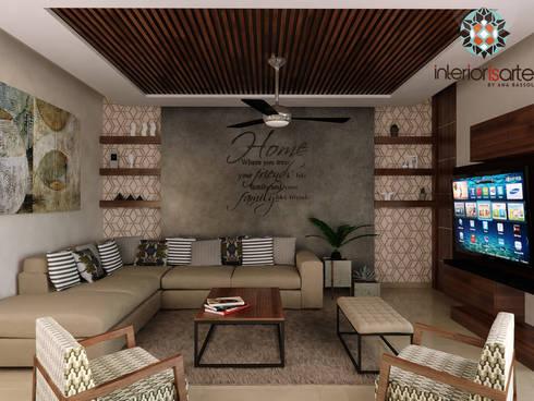 Sala: Salas de estilo moderno por Interiorisarte