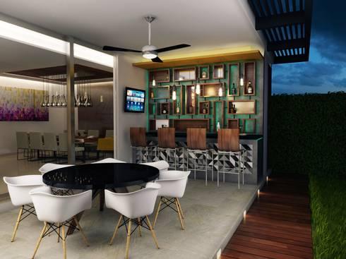 Bar con Iluminacion: Casas de estilo moderno por Interiorisarte
