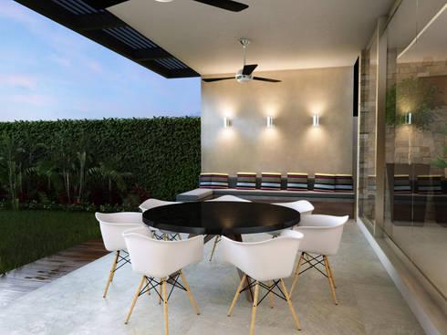 Terraza : Jardines de estilo moderno por Interiorisarte